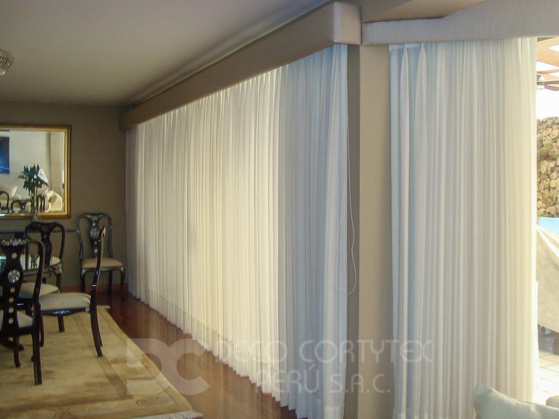 Cortinas 22 - Cortinas con cenefa tapizada
