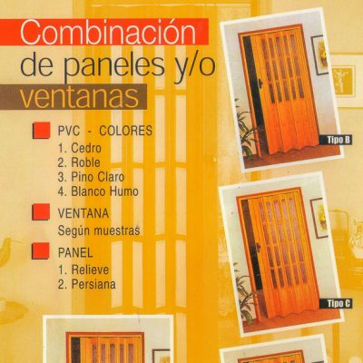 Puertas plegables 01 - Modelo de Puertas Apaneladas