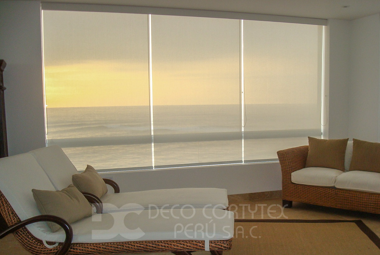 Rollers screen 07 - Roller 10% blanco Casa de playa