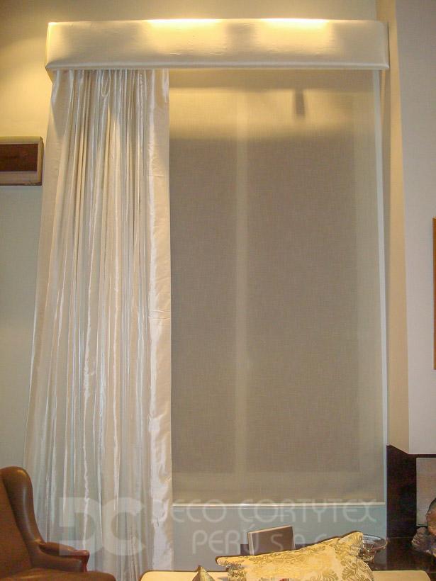 Rollers textura 02 - Roller tipo tela con cortina